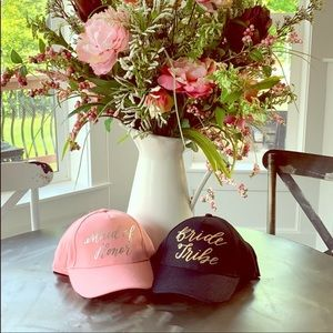 Maid of honor bride tribe baseball hats